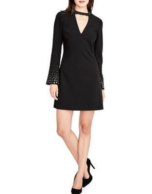 Embellished Choker Dress by Calvin Klein