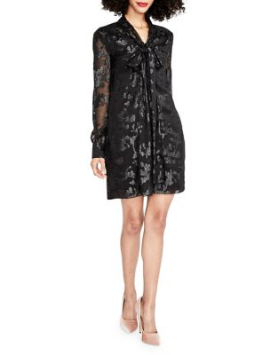 Jacquard Chiffon Shift Dress by RACHEL Rachel Roy
