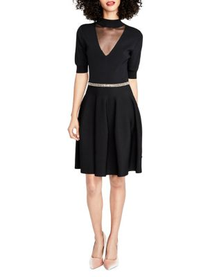 Photo of Short Sleeve Fit-&-Flare Dress by RACHEL Rachel Roy - shop RACHEL Rachel Roy dresses sales