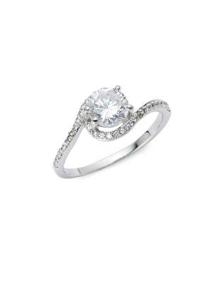 Crystal Thin Band Ring...