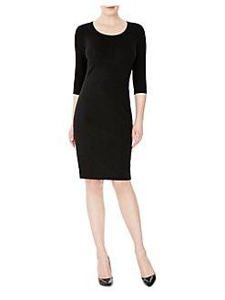04cc31b495742 QUICK VIEW. Gravitas. Amelia Three-Quarter Sleeve Sheath Dress