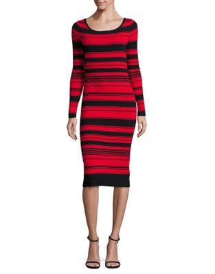 Bb Dakota STRIPED SWEATER DRESS