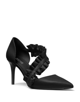 Bella Ruffle Strap Pumps by MICHAEL MICHAEL KORS