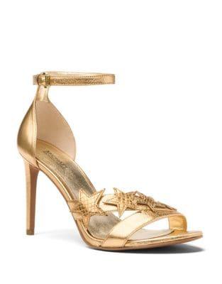 Lexie Metallic Leather Star Sandals by MICHAEL MICHAEL KORS
