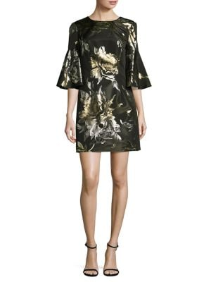 Rachelle Metallic Jacquard Dress by Trina Turk