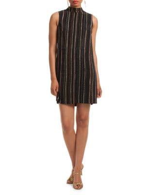 Metallic Striped Dress by Trina Turk