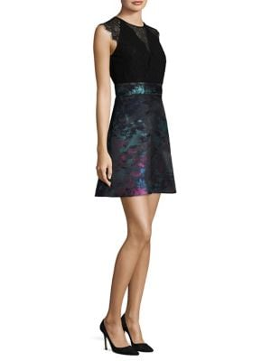 Lace and Jacquard Dress by Laundry by Shelli Segal