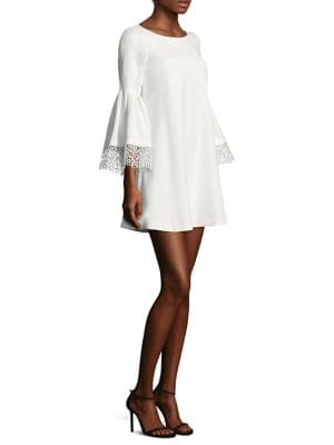Lace Sleeve Shift Dress by Laundry by Shelli Segal