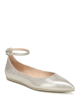 Alex Leather Ankle-Strap Ballet Flats by Franco Sarto