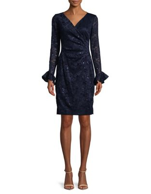 Sequined Lace Sheath Dress by Lauren Ralph Lauren