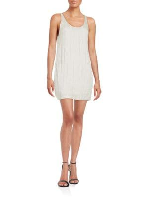 Photo of Halston Heritage Beaded Scoopneck Dress