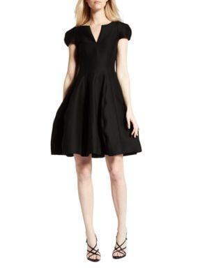 Cap-Sleeve Sateen Dress 500087753752