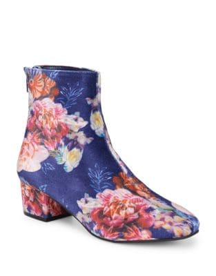 Floral Velvet Booties by Betsey Johnson