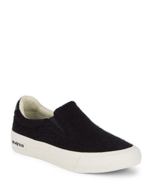 Classic Textile Slip-On Sneakers by Seavees
