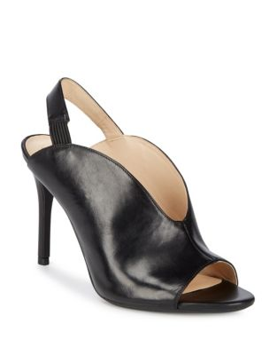 Moore Leather Stiletto Slingbacks by Nine West
