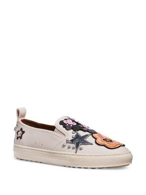 Sequin Leather Slip-On Sneakers by COACH