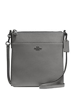 Messenger Leather Crossbody Bag HEATHER GREY. QUICK VIEW. Product image.  QUICK VIEW. COACH 3f60f5a1dcdb4