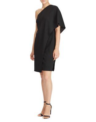 Jersey One-Shoulder Sheath Dress by Lauren Ralph Lauren