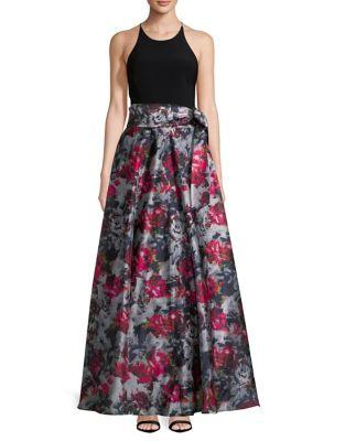 Floral Sleeveless Floor-Length Dress by Blondie Nites