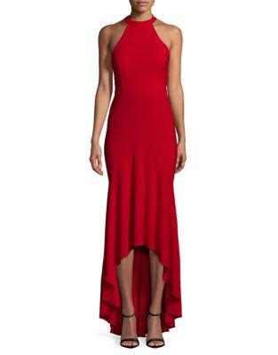 Hi-Lo Halter Dress by Blondie Nites