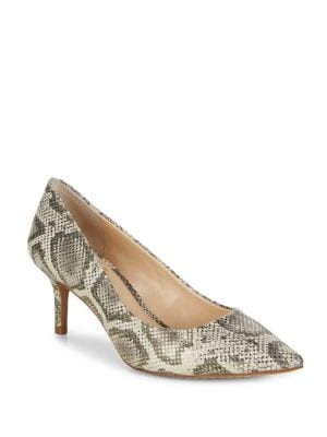 Kemira Snake Print Leather Pumps by Vince Camuto