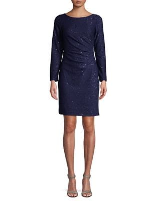Sequin Long-Sleeve Dress by Vince Camuto