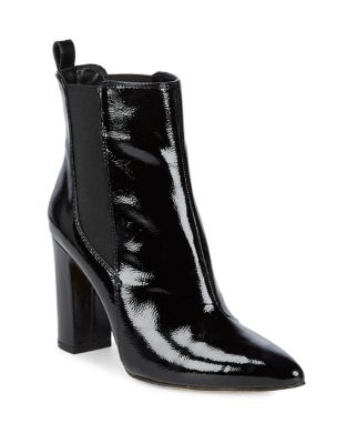 Britsy Patent Leather Booties by Vince Camuto