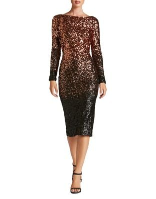 Emery Ombre Sequined Bodycon Dress by Dress The Population