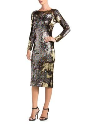 Emery Multi-Colored Sequin Bodycon Dress by Dress The Population