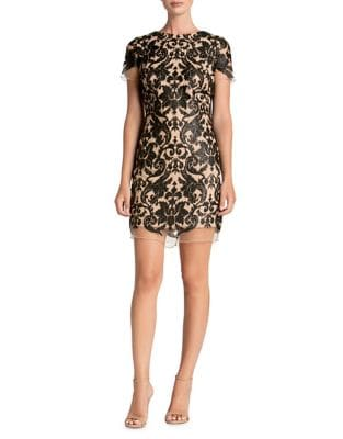 Megan Sequined Lace Shift Dress by Dress The Population