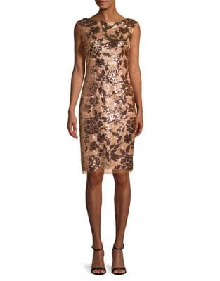 Photo of Boatneck Sequined Dress by Vince Camuto - shop Vince Camuto dresses sales