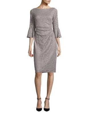 Bell Sleeve Lace Dress by Eliza J