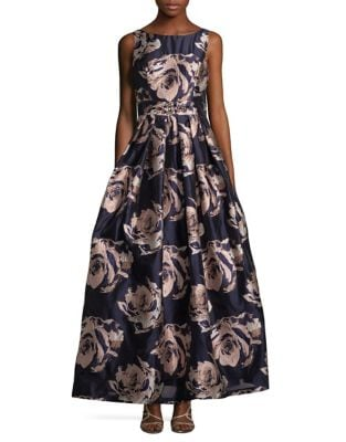 Floral Brocade Ball Gown by Xscape