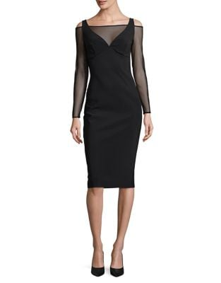 Illusion Mesh Bodycon Dress by Chiara Boni La Petite Robe