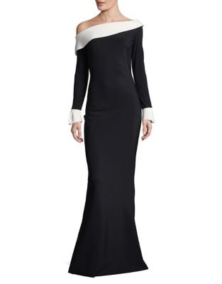 Two-Toned Trumpet Gown by Chiara Boni La Petite Robe
