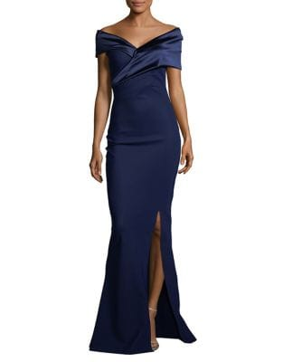 Off-The-Shoulder Trumpet Gown by Chiara Boni La Petite Robe