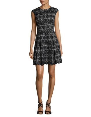 Scalloped Fit-&-Flare Dress by Vince Camuto