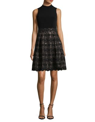 Sequin Fit-and-Flare Dress by Vince Camuto