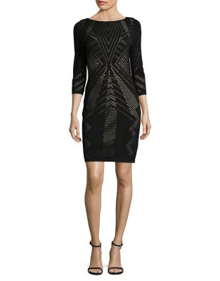 Petite Perforated Bodycon Dress by Calvin Klein