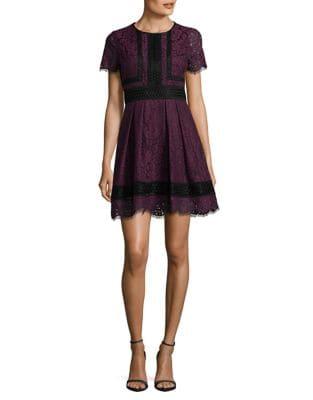 Petite Floral Lace Fit-&-Flare Dress by Eliza J