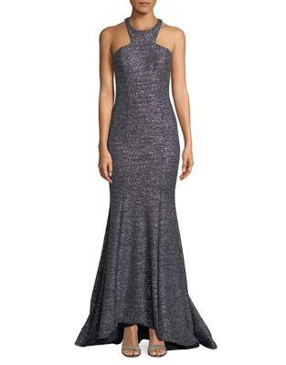 Halterneck Hi-Lo Mermaid Gown by Xscape