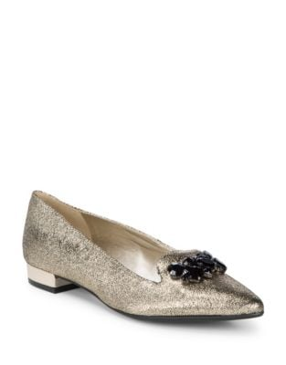 Photo of Kamy Leather Loafers by Anne Klein - shop Anne Klein shoes sales