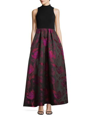 Pleated Brocade Gown by Decode 1.8