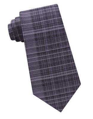 Hi-Lo Plaid Silk Tie...
