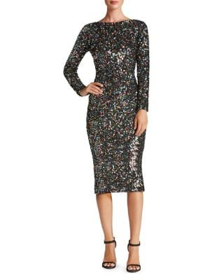 Emery Sequined Bodycon Dress by Dress The Population