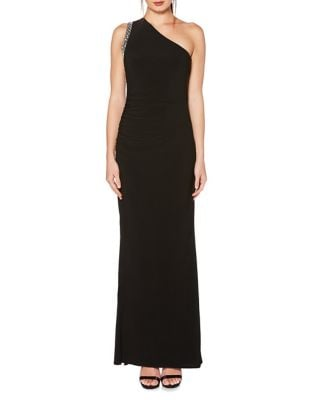 One-Shoulder Beaded Gown by Laundry by Shelli Segal