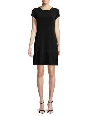 Solid Pleated Dress by Calvin Klein