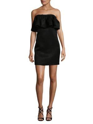Strapless Flounce Mini Dress 500087789309