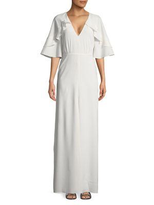 Flutter-Sleeve Column Gown 500087789386