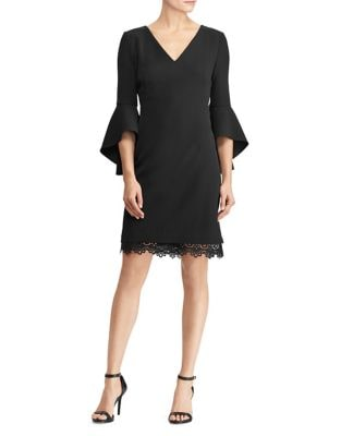 V-Neck Sheath Dress by Lauren Ralph Lauren